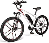 Autoshoppingcenter 26 Inch Electric Bikes for Adults, Mountain Ebike Bicycles for Mens Women 350W 48V 8AH Lithium Battery Aluminum Frame Disc Brakes 3 Modes Shimano 21 Speeds