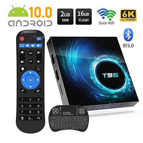 Sidiwen Android 10.0 TV Box T95 Android Box 2GB RAM 16 ROM