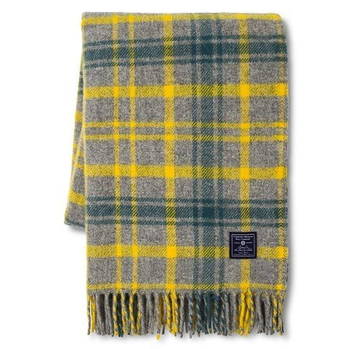 やさしく階コロニーFaribault Woolen Mill会社Plaid Wool Throw 50
