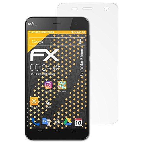 atFolix Panzerfolie kompatibel mit Wiko Bloom Schutzfolie, entspiegelnde & stoßdämpfende FX Folie (3X)