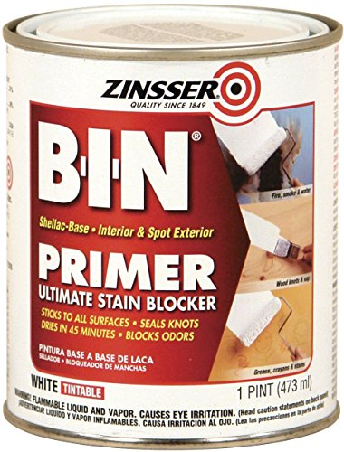 Zinsser 00908 B-I-N Primer Sealer – White, 1- Pint