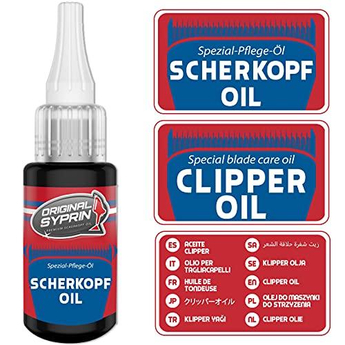 Original Syprin Scherkopf Öl für Haarschneidemaschinen Haarschneider Rasierer Trimmer I Scherkopföl Friseurbedarf Schermaschinenöl Feinmechanik Öl - 30 ml