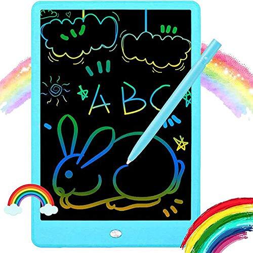 LCD Schreibtafel, KUACALL LCD Writing Tablet Bunte 10 Zoll Schreibplatte Grafiktabletts Digitale Maltafel Elektronisches Schreibtablet Schreibtafel für Kinder Erwachsene (Blau)