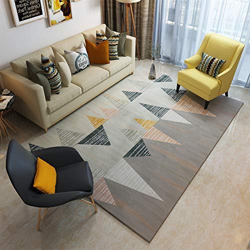 RZJF Schlichtes Schwarz-Weiß-Wohnzimmer Couchtisch Teppich Schlafzimmer Bett Kissen B 180 * 280 cm