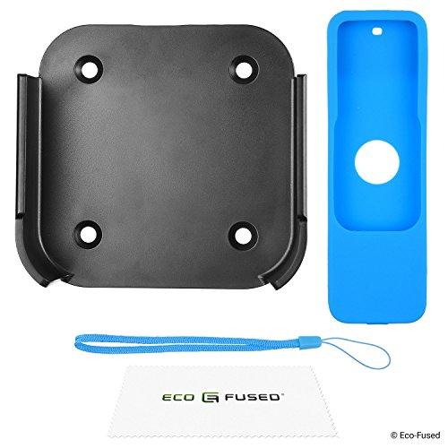Apple TV Afstandsbediening Cover Case met Polsband - 3 Pack (Blauw Groen Rood) - 4e Gen - Beschermend Siliconen Shield - Schokabsorberend Apple TV 4 Mount + Blue RC Cover Case