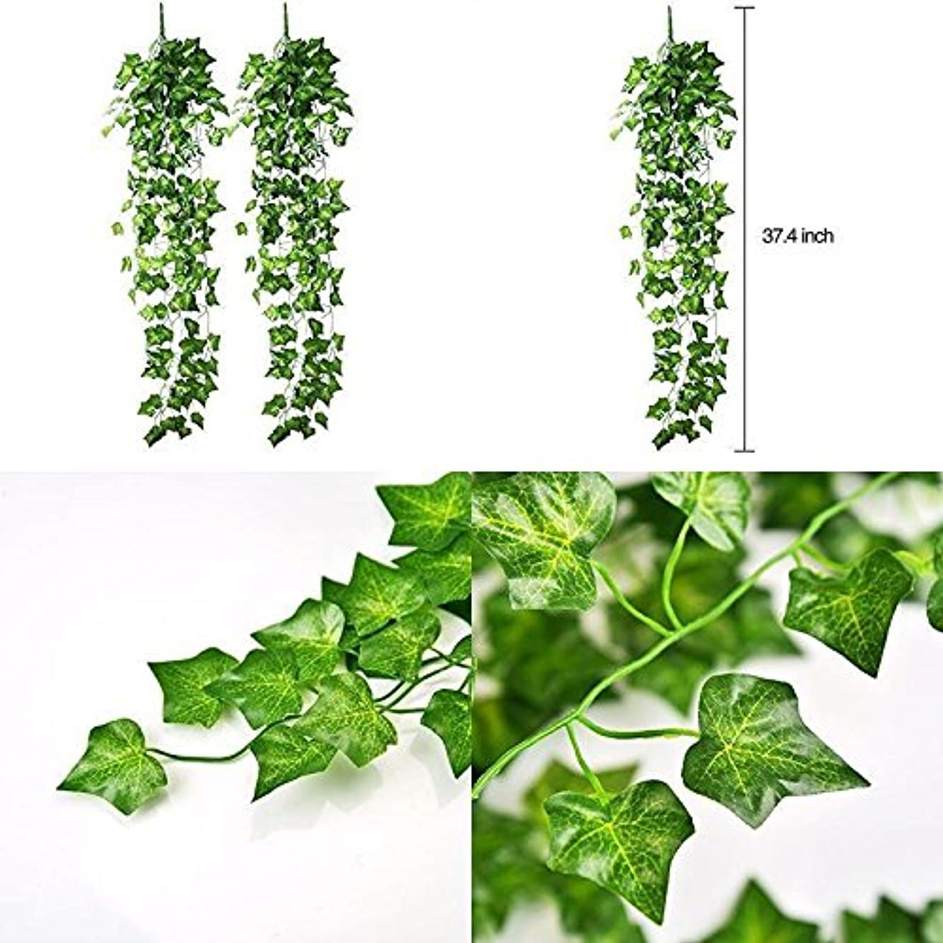 Plant Artificial Ivy Hanging Vine Leaves Garland Wedding Party Garden Wall Decor