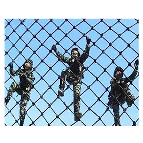 Red de escalada al aire libre, niños adultos escalada de roca de entrenamiento de fitness de la red de la cuerda de seguridad anti-caída, jardín de infantes instalaciones de juegos protección red de expansión de red de techo, 1*5m(3*16ft)