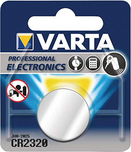 Varta CR2320 Lithium Knopfzellen 3V Batterie in Original Blisterverpackung, 1er Pack