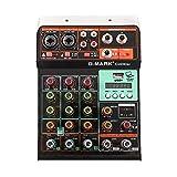 G-MARK Mini Mixer Audio G40 MINI 4 Canali B 5V Studio Karaoke Protable uetooth Live Performance KTV Home Stage Stereo Musica Scheda audio