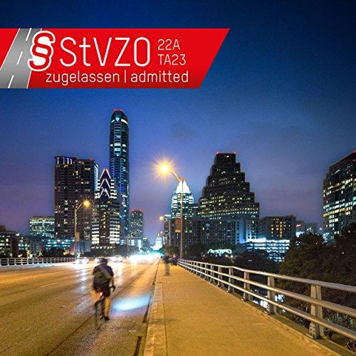ANSMANN LiteRider StVZO Fahrradlicht LED Beleuchtungsset mit Frontlicht & Rücklicht – Fahrradlampe batteriebetrieben – zugelassen & abnehmbar – Beleuchtung für Fahrrad, Mountainbike, eBike, Rennrad - 3