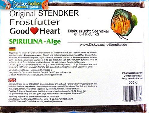 Stendker Frostfutter Sparpaket NEU!! 10 x GoodHeart SPIRULINA Diskusfutter/Rinderherz 500g Flachtafel