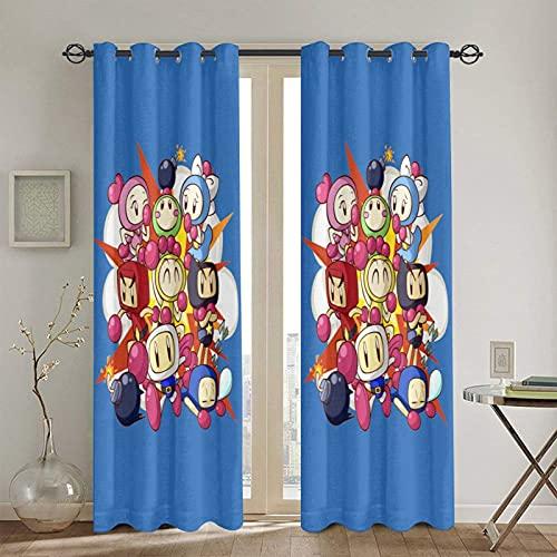 のあるカーテン 2枚組 1級遮光 遮熱 断熱 入り口のカーテン スーパーボンバーマンr 寝室 客間 人気 カーテン 洗えるプライバシー保護 カーテン なカーテン