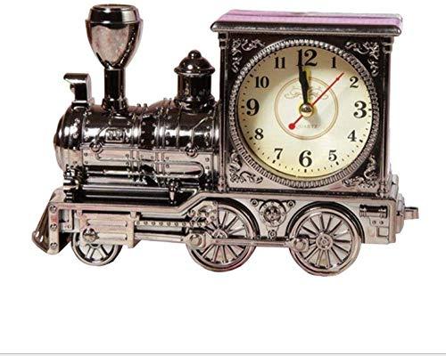 Creative Bedside Klok Retro nostalgische locomotief Leuke wekker mode-persoonlijkheid plastic model leuke wekker creatieve huis geschenken