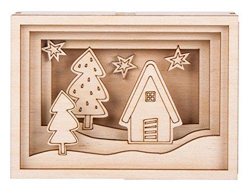 Rayher Hobby 46317000 Bausatz, Holz, Braun, One Size