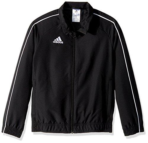 adidas Juniors' Core 18 Soccer Presentation Jacket, Black/White, Medium