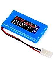 BAKTH 2000mAh 9.6V NiMH RC batterij racepakket voor modelbouw auto's, vliegtuigen, robots (speelgoed), high-performance RC batterijpakket + onderzetters als cadeau