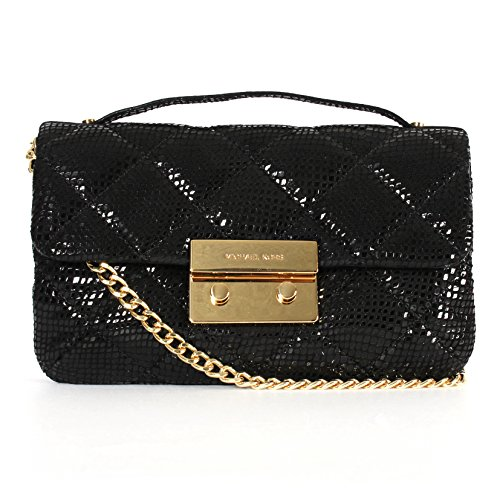 Gilded hardware and glossy embossed leather bring extra gleam to this quilted michael michael kors crossbody. Patent embossed leather. Imported. Top handle, adjustable crossbody strap. Pushlock flap closure; lined. Interior zip pocket, two interior s...