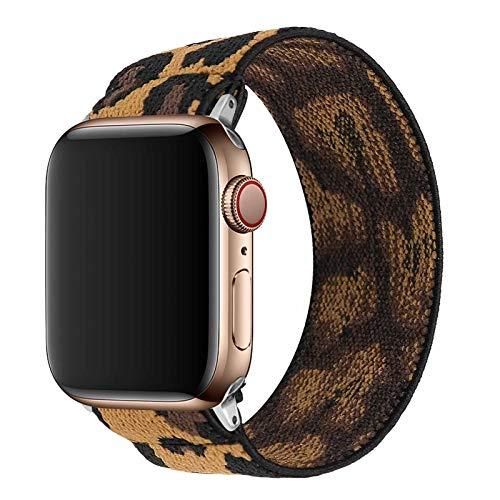 TopPerfekt Correa elástica compatible con Apple 42/44 mm, adecuada para iWatch Series SE/6/5/4/3/2/1 suave correa elástica de pulsera