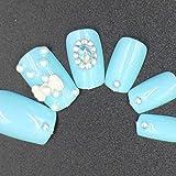 NA 12pcs / Set Tamaño Corto 3D Cubierta Completa Puntas de uñas acrílicas Falsas