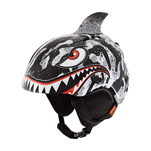 Giro Snow Unisex– Babys Launch Plus Skihelm, Black/Grey Tiger Shark, S