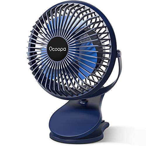 10000 mAh Stroller Fan Clip on, Battery Operated Fan Mini Desk Fan with Strong Airflow, 3 Speeds, Quiet USB Rechargeable for Camping, Golf Cart, Treadmill, Carseat, Hiking, Bed, Office