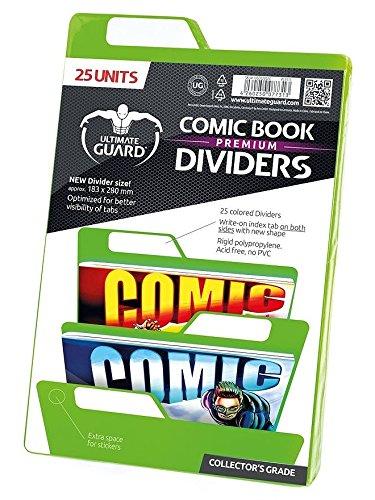 Ultimate Guard Premium Comic Book Intercalaires (Lot de 25, Vert)