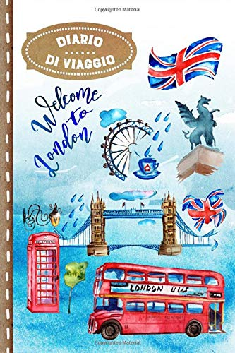 Diario di Viaggio: Londra Libro Interattivo Per Bambini per Scrivere, Disegnare, Ricordi, Quaderno da Disegno, Giornalino, Agenda Avventure – Attività per Viaggi e Vacanze Viaggiatore