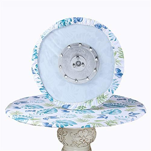 SYLC Mantel redondo resistente al agua antideslizante, manteles redondos para mesa circular, protector de mesa redondo resistente al calor y fácil de limpiar (hojas azules, 200 cm)