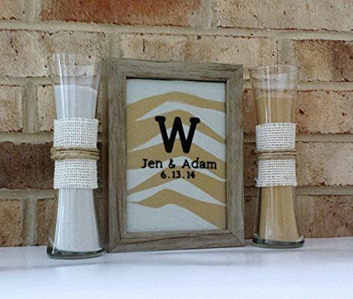 Personalized Barn Wood Sand Ceremony Shadowbox Frame Unity Set