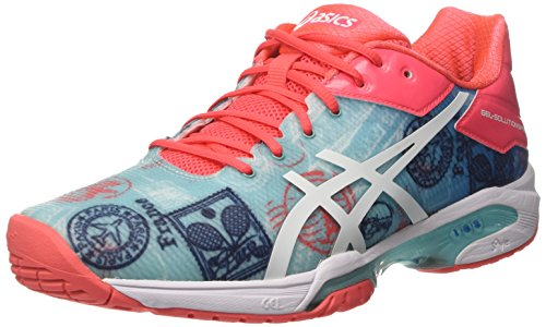 Asics Gel-Solution Speed 3 L.e. Paris, Zapatillas de Deporte para Mujer, Multicolor (Diva Blue/White/Dive Pink), 37 EU