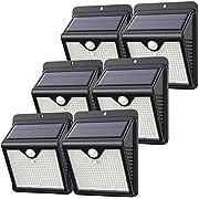 【6 Pack/150 LED】Solar Lights Outdoor, Feob Solar Security Lights Motion Sensor Lights - [Powerful - Waterproof, Smart PIR Motion Sensor] Solar Powered Lights Durable Wall Lights -2000mAh,1000 Lumens
