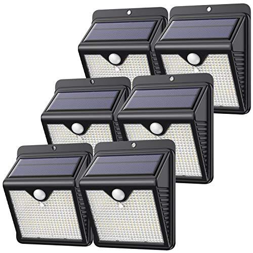 【6 Stück/150 LED】Solarlampen für Außen, Feob Solarlampe Bewegungsmelder Solarleuchte Sicherheitsleuchten - [Powerful - Wasserdicht, Intelligent PIR-Bewegungssensor] Wandleuchte -2000mAh/1000LM