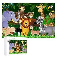 TOGOGO 1000 ピース ジグソーパズル、ディズニーランドの動物世界木製パズル