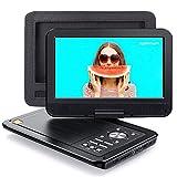 APEMAN Tragbarer DVD Player Auto 10,5'' mit Auto-Kopfstützenhalterung, 5 Stunden Akku, Drehbarer...