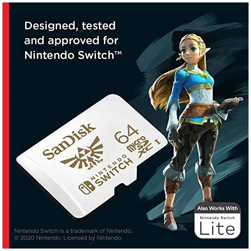 SanDisk microSDXC UHS-I Tarjeta para Nintendo Switch 64GB, Producto con Licencia de Nintendo 3