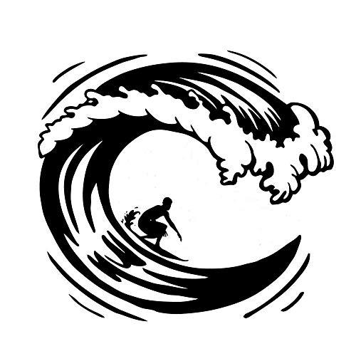 A/X Pegatina Lateral de Coche para Surfear Pegatina de Vinilo con gráfico de Hobby Parachoques de Coche Adhesivos para Ventana de Coche-Green