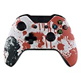 eXtremeRate Zombie Blood Patterned Faceplate Cover, Soft Touch Front Housing Shell Case, Comfortable Soft Grip Replacement Kit for Standard Xbox One Controller Model 1537/1697