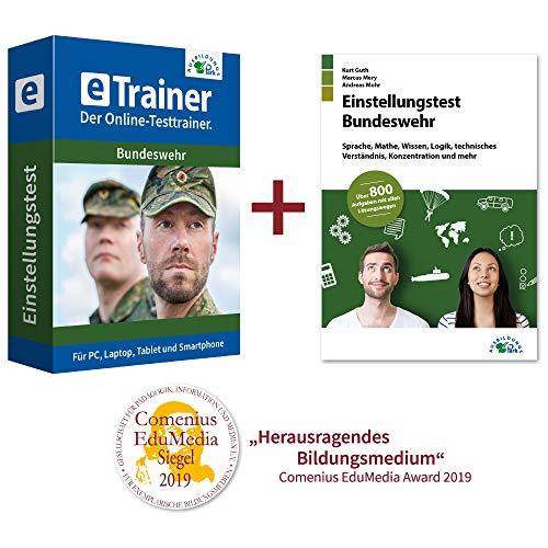 Einstellungstest Bundeswehr Kombipaket: Online-Testtrainer + Buch | Über 2.800 Aufgaben mit allen Lösungswegen | Sprache, Mathe, Wissen, Logik, technisches Verständnis, Konzentration und mehr