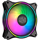 Cooler Master MasterFan MF120 Halo Duo-Ring Addressable RGB Lighting 120mm Fan, Absorbing Rubber Pads,4-Pin 12V PWM Static Pressure for Computer Case & Liquid(MF120 Halo)