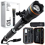 DanForce G1 Pro Rechargeable Flashlight: Worldwide Patent, Highest-Funded Tactical Flash light on Kickstarter, High-Power 1080 Lumens, Holster, Weapon Mount, Remote Switch, Multiple Configurations…