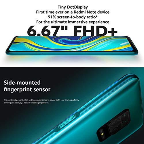 "Redmi Note 9S - 4GB 64GB Quad camera AI 48MP 6.67""FHD+ 5020mAh Tipo 18W ricarica rapida Aurora Blue"