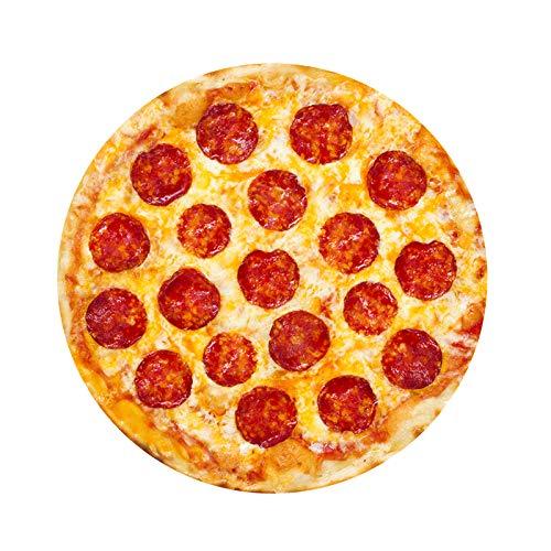 3D Pizza Drucken Flanell Decken, Komfort Decke 3D-Digitaldruck Pizza Flanelldecke Fleece, Yogamatte Spaß Essen Plüsch-Steppdecke ür Home Picknick Strand, (80/100/120/150/180cm) (180cm, D)