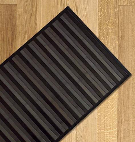 Confezioni Giuliana Tappeto Bamboo sfumato passatoia Cucina e Multiuso Nero (55x280)