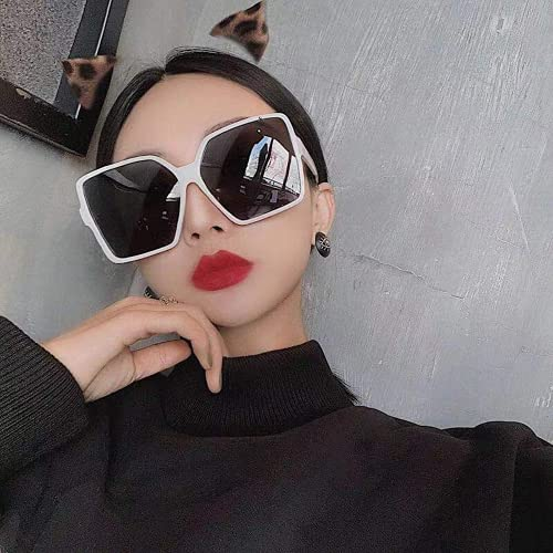 Mcottage Gafas de Sol cuadradas de Gran tamaño 2021 para Mujer, Gafas de Sol con Montura Grande Vintage para Mujer, Gafas graduadas de Moda para Mujer