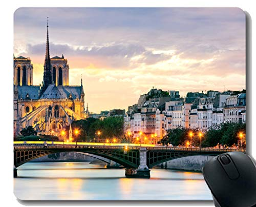 Yanteng Tappetini per Mouse rettangolari in Gomma Naturale Antiscivolo, Notre Dame de Paris France Continuation dell'anima Tappetini per Mouse in Gomma con tappetini per Mouse