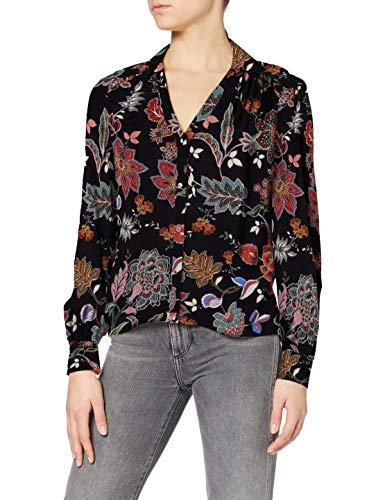 Morgan Chemise imprimé Fleurs Chola Shirt, Noir, T38 Womens
