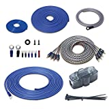 RECOIL RCK44 True 4 Gauge Complete 4-Channel CCA Amplifier Wiring Kits with OFC RCA Cable