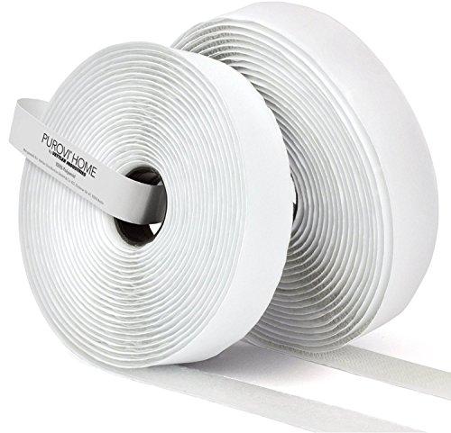 Purovi Klettband Länge 10m selbstklebend 20mm Weiss