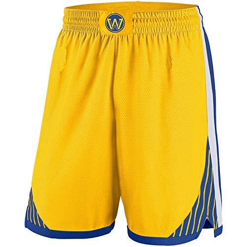 MZYW Pantalones cortos de entrenamiento para hombre Golden State Gold,Warriors 2019/20 Swingman Pantalones cortos de baloncesto para hombre - Declaración Edición