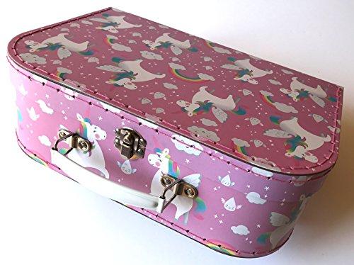 Sass and Belle Koffer/Kinderkoffer/Puppenkoffer/Aufbewahrungsbox. 3 Verschiedene Größen. (Rosa/Regenbogen Einhorn, Groß)